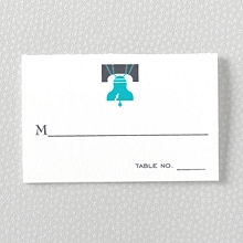 Visit Philadelphia---Letterpress Place Card