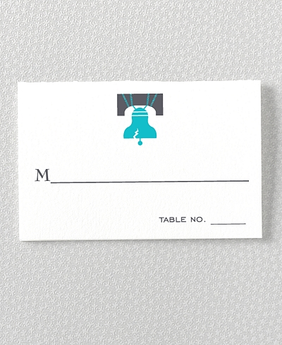 Visit Philadelphia Letterpress Place Card