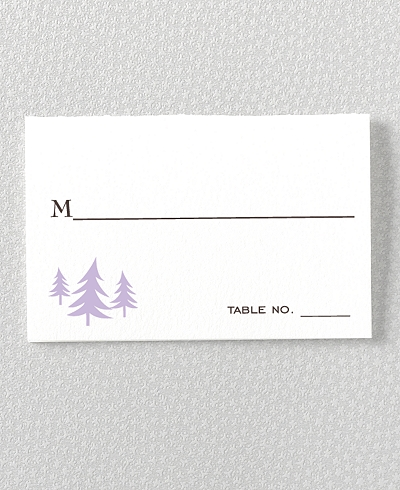 Visit Seattle Letterpress Place Card
