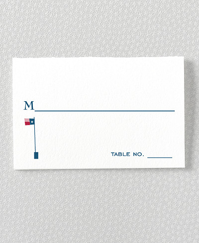 Visit Texas Place Card