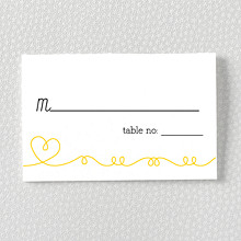 Whimsy: Letterpress Place Card