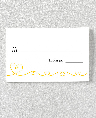 Whimsy Letterpress Place Card