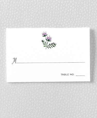 Wildflowers Place Card