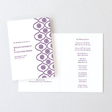 Bohemian: Letterpress Folded Program