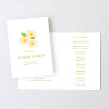 Daisy: Letterpress Folded Program