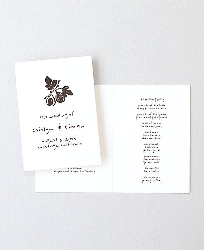 Figs Letterpress Folded Program