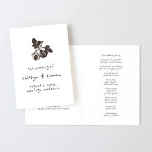 Figs: Letterpress Folded Program