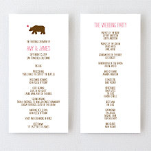 Big Day California - Letterpress Program