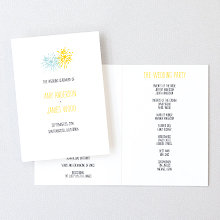 Big Day Fireworks: Letterpress Folded Program