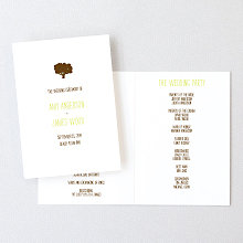 Big Day Oak: Letterpress Folded Program