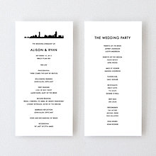 Boston Skyline---Letterpress Program