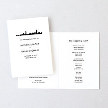 Boston Skyline---Letterpress Folded Program
