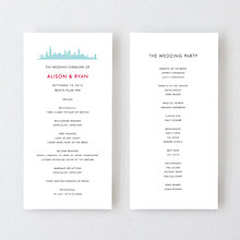 Chicago Skyline - Letterpress Program