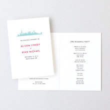 Chicago Skyline: Letterpress Folded Program