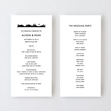 Desert Skyline - Letterpress Program