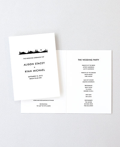 Desert Skyline Letterpress Folded Program