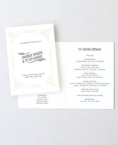 Flourish Letterpress Folded Program
