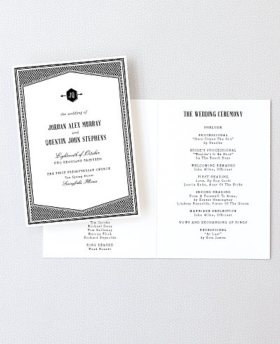 Havana Letterpress Folded Program