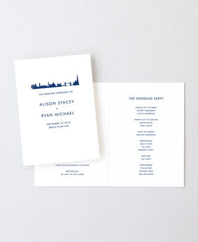 London Skyline Letterpress Folded Program