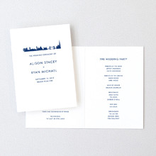London Skyline---Letterpress Folded Program
