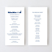 London Skyline---Letterpress Program