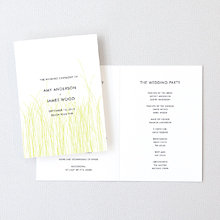 Meadow - Letterpress Folded Program