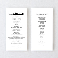 New York City Skyline---Letterpress Program
