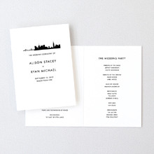 New York City Skyline - Letterpress Folded Program