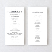 San Francisco Skyline---Letterpress Program