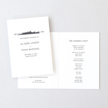 San Francisco Skyline - Letterpress Folded Program