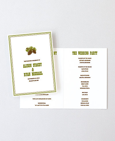 Tahoe Letterpress Folded Program