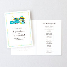 Visit Martha's Vineyard---Letterpress Folded Program