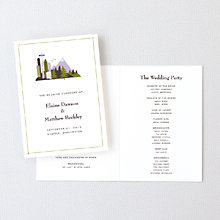 Visit Seattle---Letterpress Folded Program