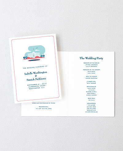 Visit Washington, D.C. Letterpress Folded Program