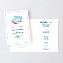 Visit Washington, D.C.---Letterpress Folded Program
