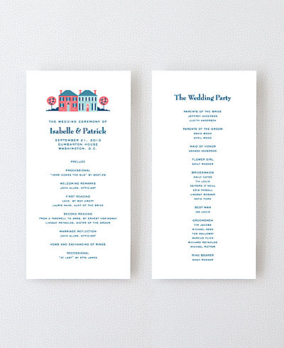 Visit Washington, D.C. Letterpress Program