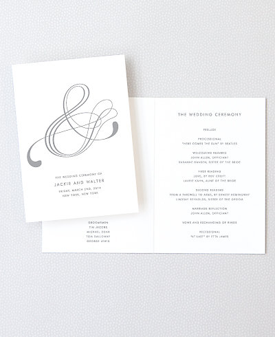 Atlantic Foil/Letterpress Folded Program