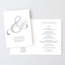 Atlantic: Foil/Letterpress Folded Program