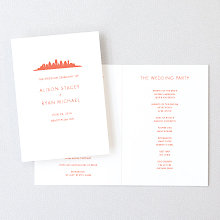 Austin Skyline: Letterpress Folded Program