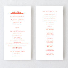 Austin Skyline - Letterpress Program