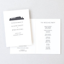 Edinburgh Skyline - Letterpress Folded Program