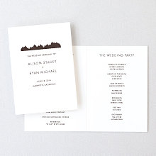 Mountain Skyline - Letterpress Folded Program