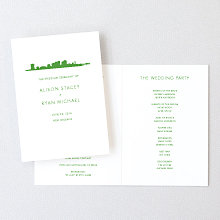 New Orleans Skyline: Letterpress Folded Program