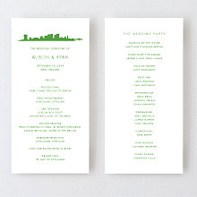 New Orleans Skyline: Letterpress Program