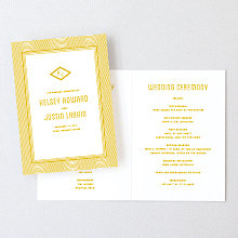 Parker - Foil/Letterpress Folded Program