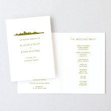 Portland Skyline - Letterpress Folded Program