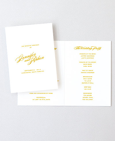 Symphony Foil/Letterpress Folded Program