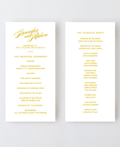 Symphony Foil/Letterpress Program