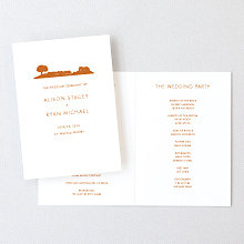 Wine Country Skyline - Letterpress Folded Program
