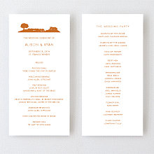 Wine Country Skyline - Letterpress Program